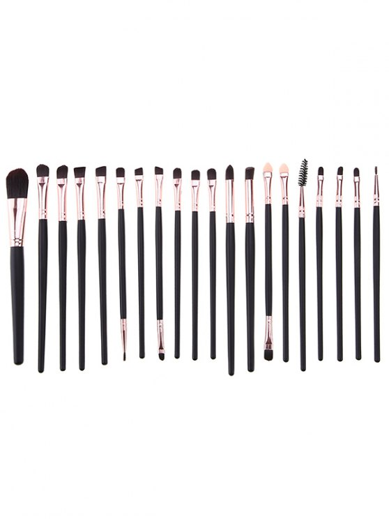20 Pcs Eye Makeup Brushes + Beauty Blender + Brush Egg - BLACK  Mobile