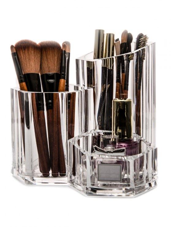 Cepillo del sostenedor del organizador del maquillaje - Transparente