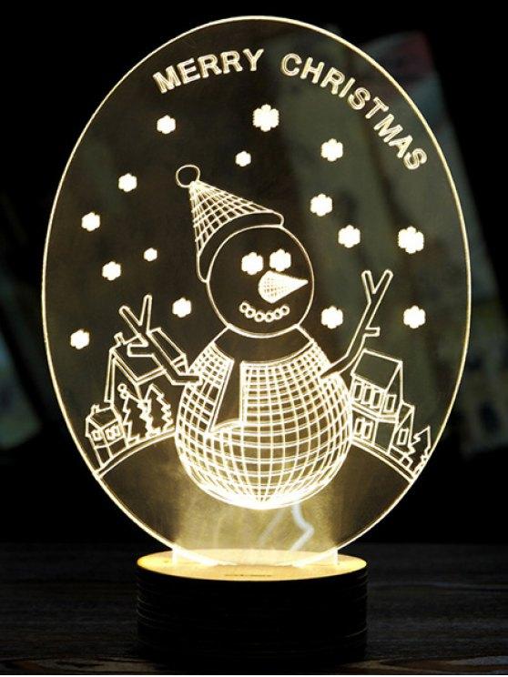 Christmas 3D LED Snow Man Night Light -   Mobile