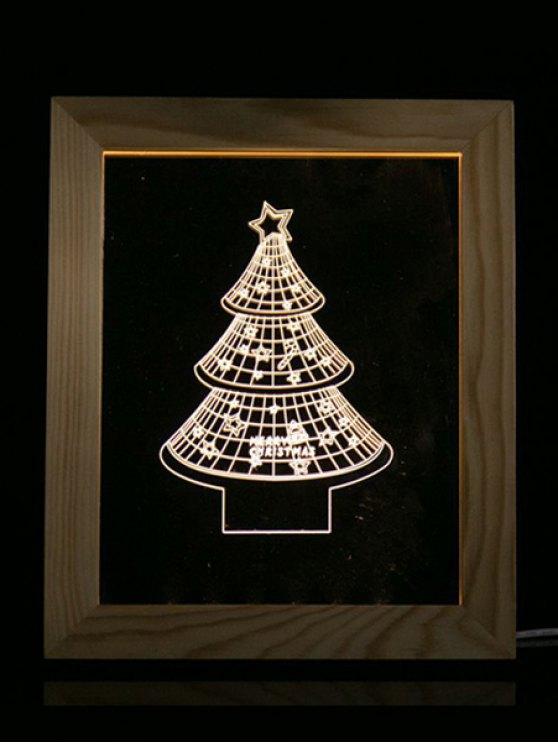 Christmas Tree Photo Frame LED Night Light - TRANSPARENT  Mobile