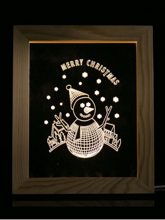 Merry Christmas Snowman Photo Frame LED Light - TRANSPARENT  Mobile