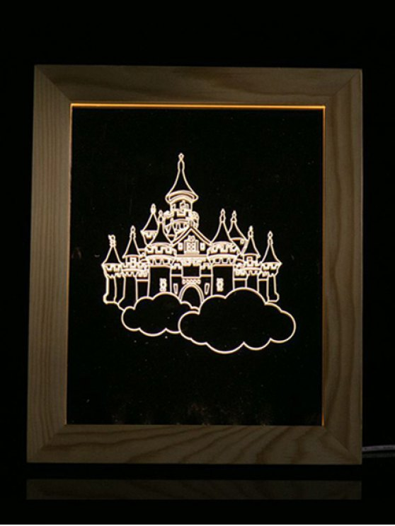 Christmas Castle Photo Frame LED Night Light -   Mobile