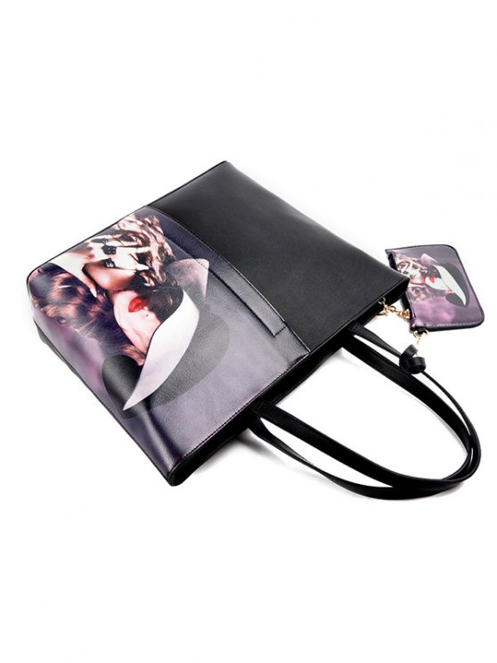 Painted Shoulder Bag With Painted Wristlet -   Mobile