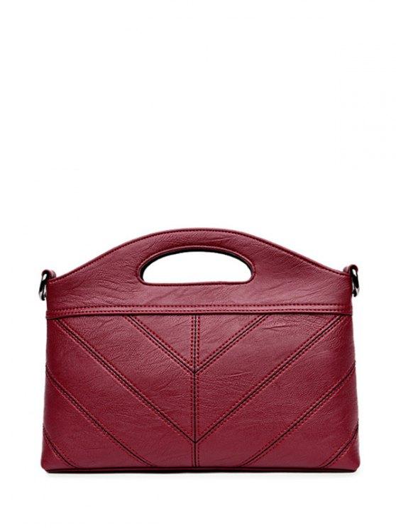 Stitching PU Leather Handbag -   Mobile