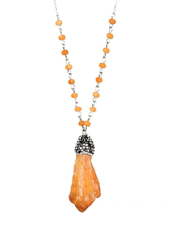 Beads Natural Stone Pendant Necklace -   Mobile