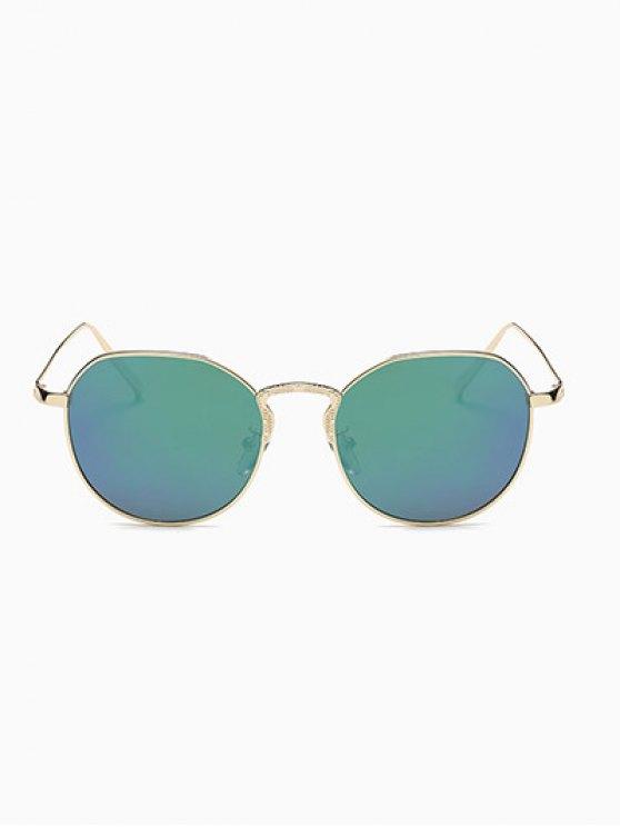 Pilot Mirrored Sunglasses - GREEN  Mobile