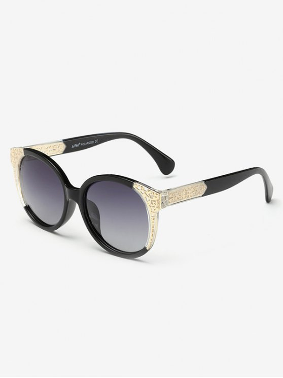 Two Tone Ombre Sunglasses - PHOTO BLACK  Mobile