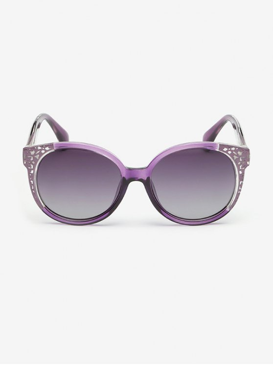 Two Tone Ombre Sunglasses - PURPLE  Mobile