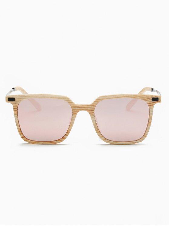 Square Mirrored Sunglasses - PINK  Mobile