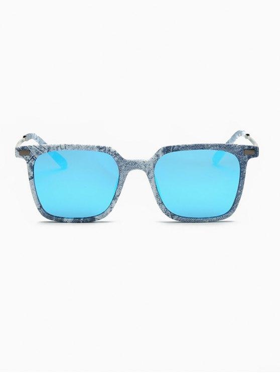 Square Mirrored Sunglasses - DENIM BLUE  Mobile