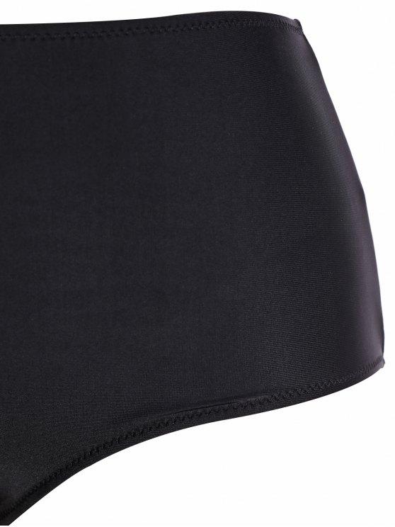 Tribal Print Strap Bikini - BLACK M Mobile