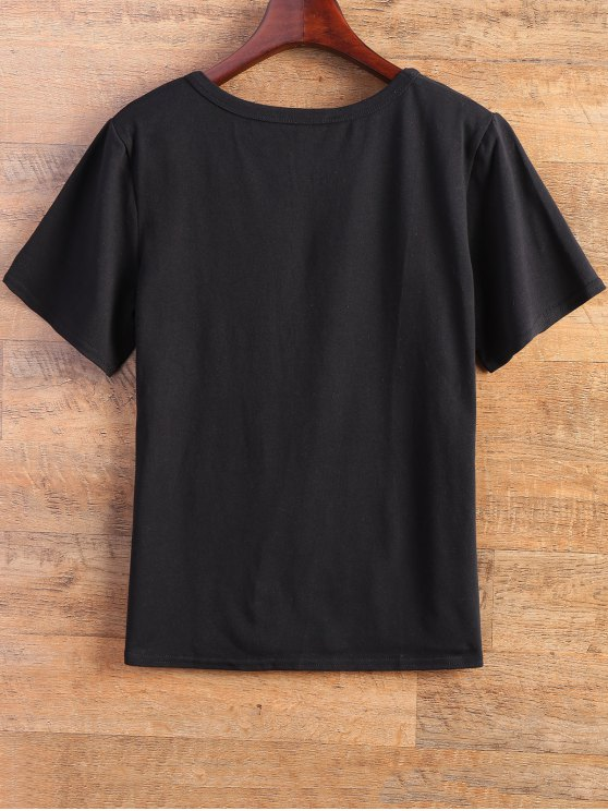 Fitting Letter T-Shirt - BLACK M Mobile