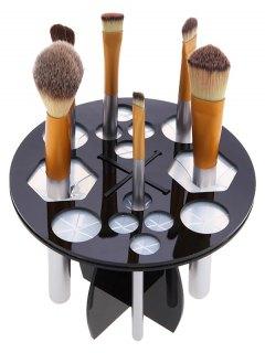 Round Makeup Brush Tree - Black