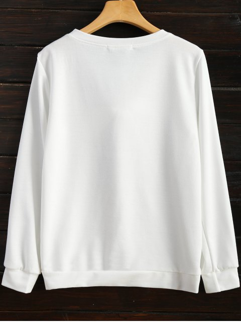online Pom Pom Sweatshirt - WHITE XL Mobile