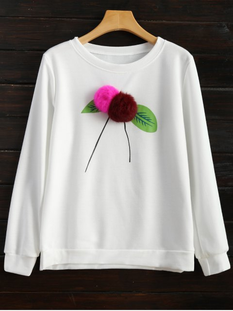 new Pom Pom Sweatshirt - WHITE L Mobile