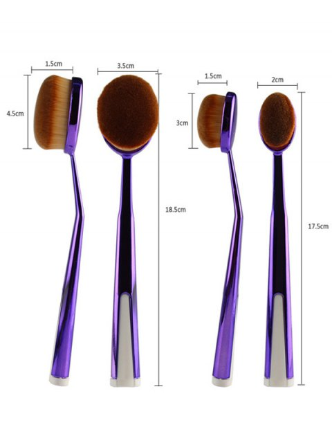 women's 5 Pcs Nylon Oval Toothbrush Makeup Brushes Set with Brush Stand -   Mobile
