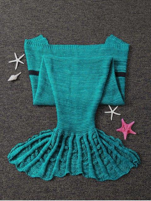 ladies Knitted Sleeping Bag Mermaid Blanket -   Mobile