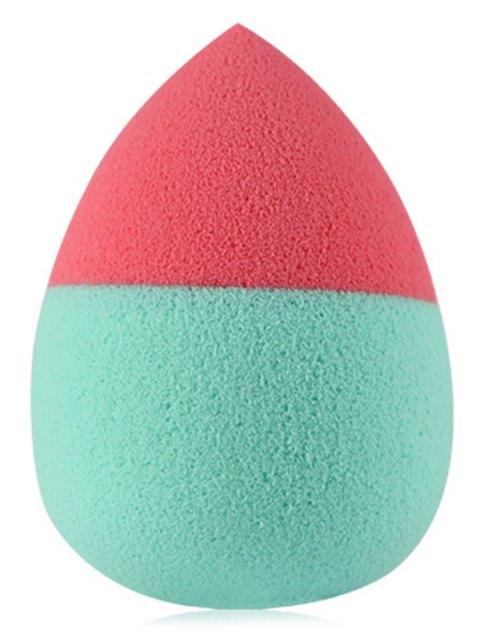lady 3 Pcs Two Tone Teardrop Shape Makeup Sponges - RED  Mobile