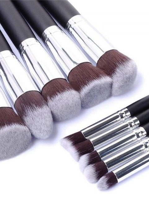 affordable Makeup Brushes Set + Makeup Sponge + Brush Egg - BLACK  Mobile