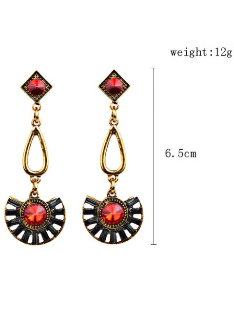 affordable Rhinestone Geometric Dangle Earrings -   Mobile