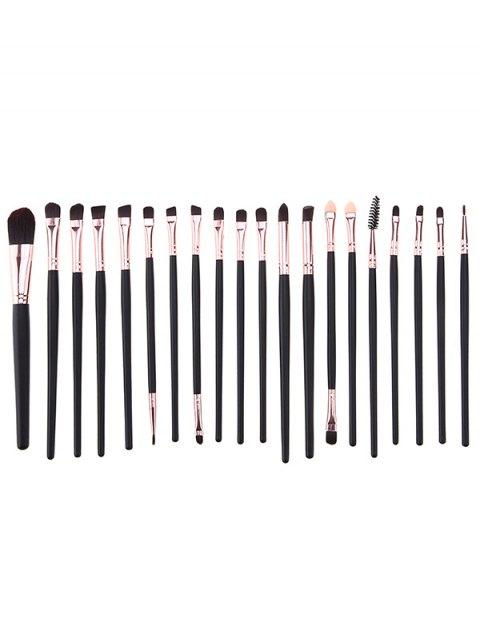 women 20 Pcs Eye Makeup Brushes + Makeup Sponge + Brush Egg - BLACK  Mobile
