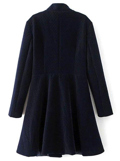 shops Single-Breasted Vintage A-Line Dress - PURPLISH BLUE M Mobile