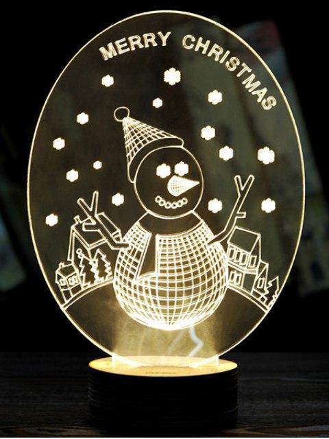 fancy Christmas 3D LED Snow Man Night Light -   Mobile