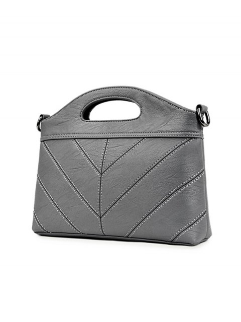 women Stitching PU Leather Handbag -   Mobile