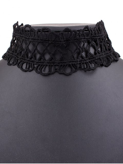 online Lace Crown Choker Necklace - BLACK  Mobile