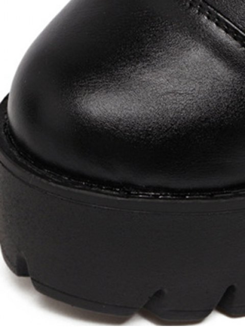 fancy Buckle Straps High Heel Boots - BLACK 39 Mobile