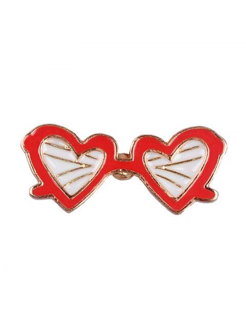 outfits Mustache Plane Cat Heart Glasses Brooch Set - COLORMIX  Mobile