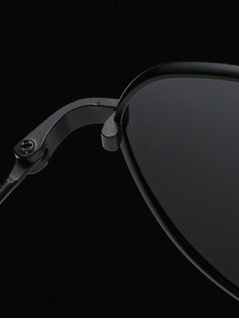 sale Metal Frame Pilot Sunglasses - BLACK  Mobile