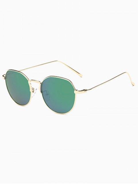 womens Pilot Mirrored Sunglasses - GREEN  Mobile