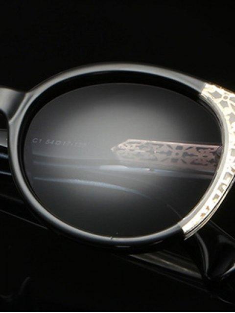 ladies Two Tone Ombre Sunglasses - PHOTO BLACK  Mobile