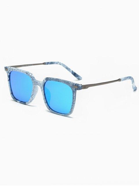 outfits Square Mirrored Sunglasses - DENIM BLUE  Mobile