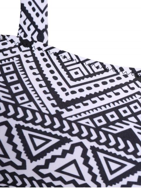 online Tribal Print Strap Bikini - BLACK XL Mobile