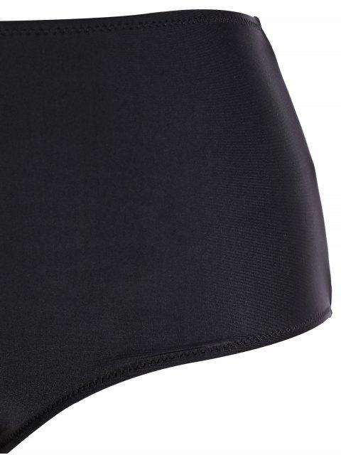 new Tribal Print Strap Bikini - BLACK L Mobile