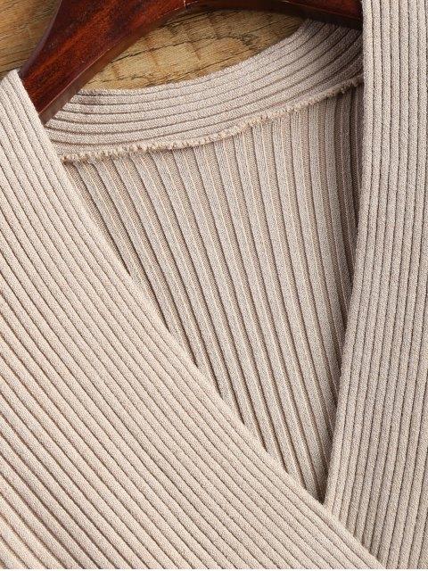 lady Knitting Wrap T-Shirt - APRICOT ONE SIZE Mobile