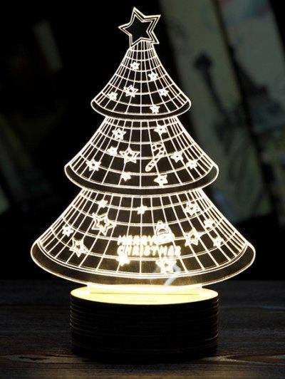 Christmas 3D LED Sleeping Tree Night Light - WHITE  Mobile