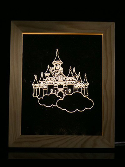 Christmas Castle Photo Frame LED Night Light - TRANSPARENT  Mobile