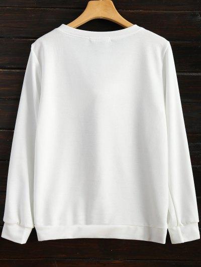 Pom Pom Sweatshirt - WHITE XL Mobile