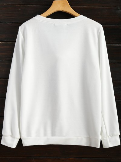 Pom Pom Sweatshirt - WHITE M Mobile