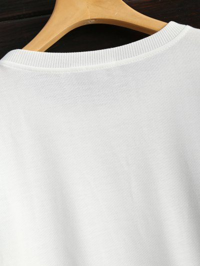 Icecream Cone Print Sweatshirt - WHITE L Mobile