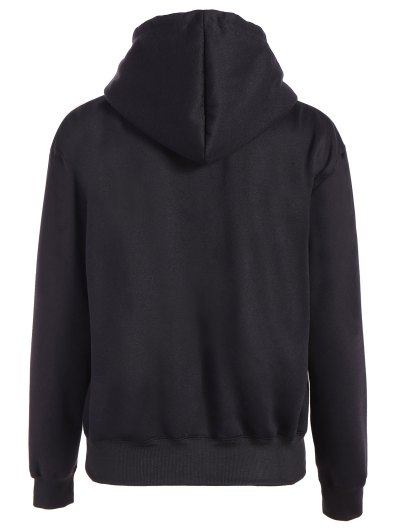 Merry Christmas Front Pocket Hoodie - BLACK M Mobile