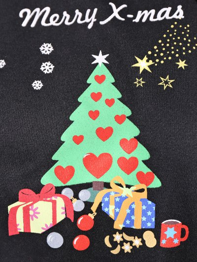 Merry Christmas Front Pocket Hoodie - BLACK S Mobile