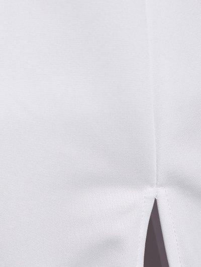 Side Furcal Cut Out Bodycon Choker Dress - WHITE M Mobile