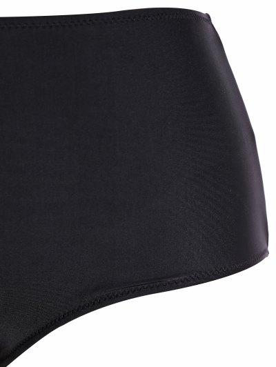 Tribal Print Straps Plus Size Bikini - BLACK S Mobile
