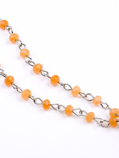 Beads Natural Stone Pendant Necklace - YELLOW  Mobile