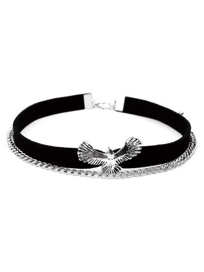 Eagle Velvet Choker - BLACK  Mobile