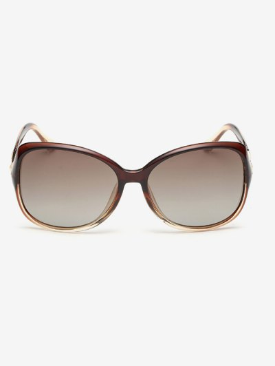 Ombre Butterfly Sunglasses - TEA-COLORED  Mobile